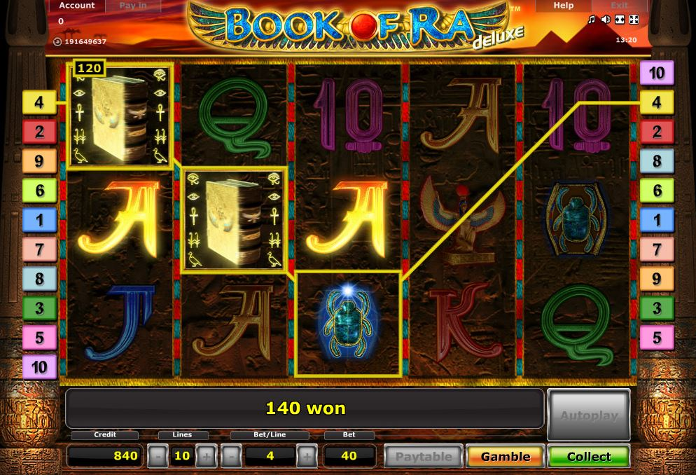online casino book of ra sizzlig hot